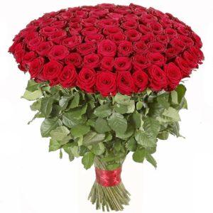Букет из 151 красной розы (70 см)